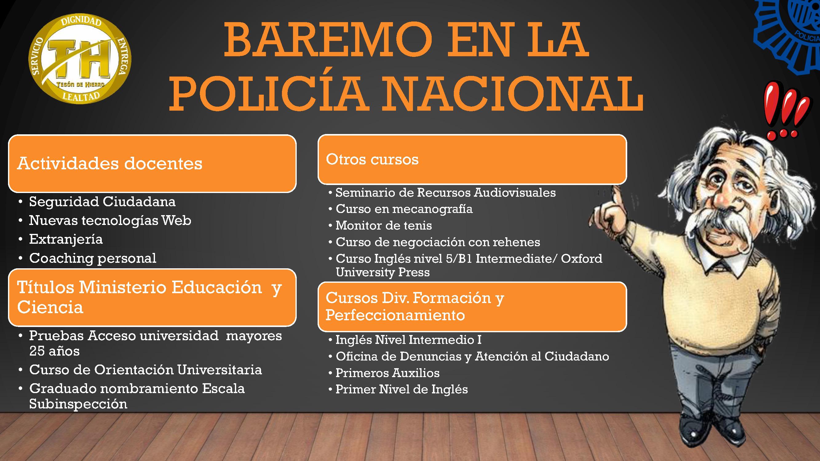 El Baremo En La Policía Nacional Promoción Interna De